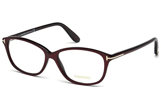 9ac8a79c5c6 Tom Ford FT5316 Square Burgundy Optical 54 Clear Lens Eyeglasses TF5316 072  New
