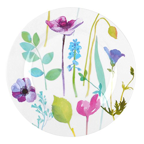 Portmeirion Water Garden Melamine Salad Plate 20cm, Set of 4