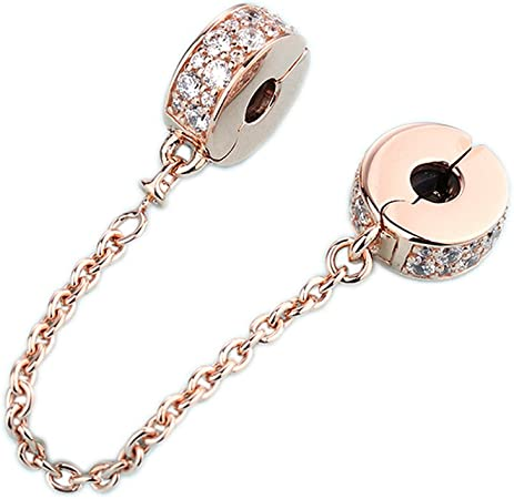 chaine or rose pandora