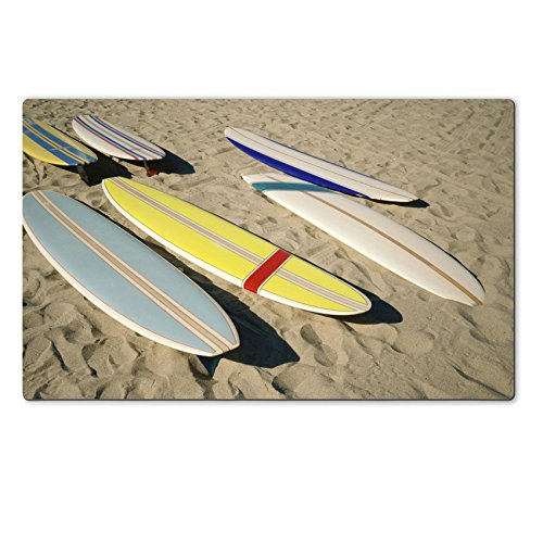MSD Natural Rubber Large Table Mat 28.4 x 17.7 x 0.2 inches IMAGE ID 20487556 Surfboards lying on sand (Scrap Clipart)