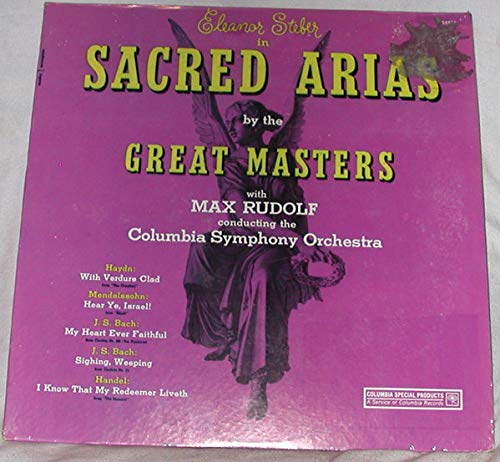 Sacred Weekly update Arias By The Great Eleanor Steber LP Masters - 2021 spring and summer new