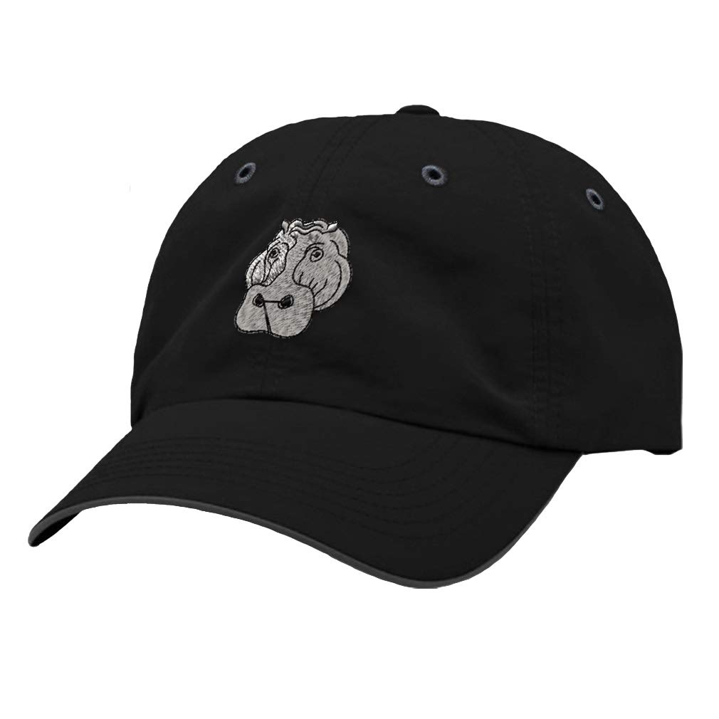 Custom Richardson Running Cap Hippo Face Embroidery Animal Name Polyester Hat