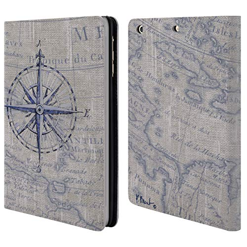 Official Paul Brent Vintage Compass Nautical Leather Book Wallet Case Cover Compatible for iPad Mini 1 / Mini 2 / Mini 3