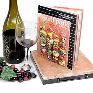 HIMALAYAN SALT COOKING GIFT SET: Himalayan Salt Plate, Salt Plate Holder & The Salt Plate Cookbook