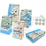 Adventure Themed Party Favors Bags Let the Adventure Begin Gift Bags Adventure Awaits Bon Voyage Travel Retirement Farewell Themed Party Treat Bags Travel Themed Birthday Baby Shower Party Supplies Set of 24