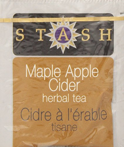 Stash Tea Maple Apple Cider 10 Count Teabags in Foil (Pack of 12) (packaging may vary) Individual Herbal Tea Bags for Use in Teapots Mugs or Cups, Brew Hot Tea or Iced Tea