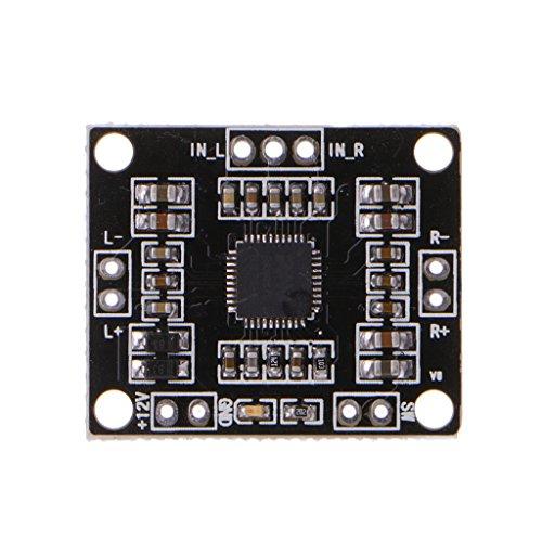 W 6V-15V Dual Channel Stereo Digital Power Amplifier Board Miniature ()