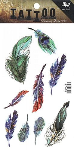 GGSELL Colorful and different shapes feather temporary tattoos