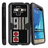 MINITURTLE Case Compatible w/ Samsung J3 , Express Prime , Amp Prime , Samsung SOl, Sky Case [MAX DEFENSE] Premium Defender Case Game Controller Retro