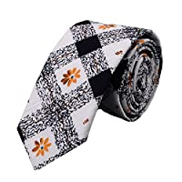 Ysiop Men Printed Cotton Neckties Fashion Skinny Cravat Ties with Gift Box