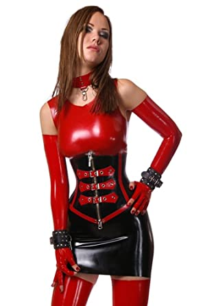 Latex catsuit tube