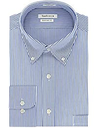 Men's Pinpoint Regular Fit Stripe Button Down Collar...
