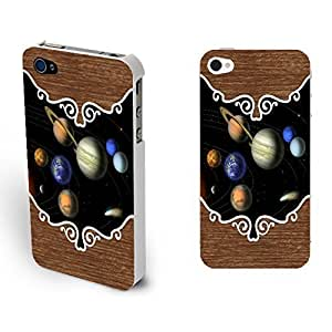 Cool Flying Planet Designed Iphone 4 4s Phone Case Cover Plastic Protector Skin