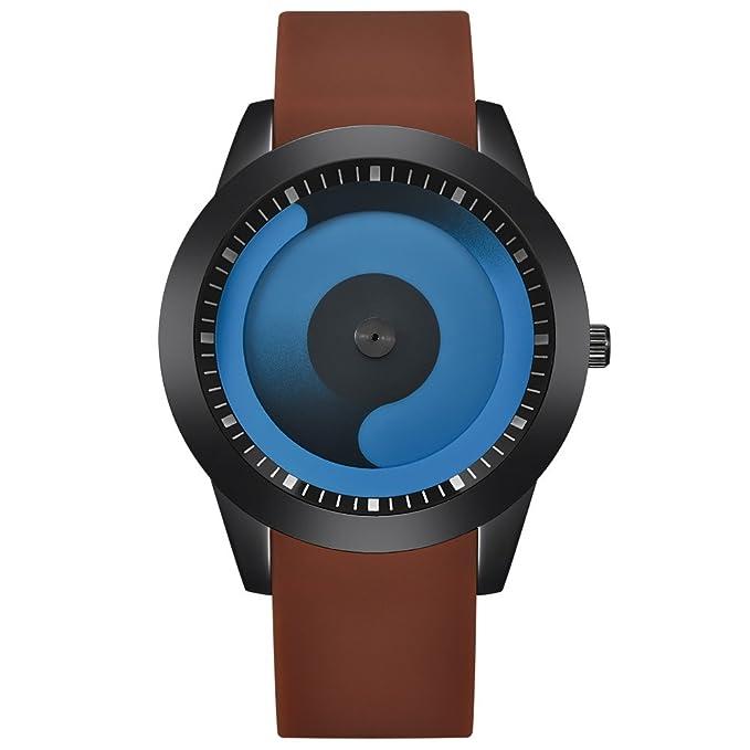 JiaMeng Amistad Pulsera Reloj Deportivo de Cuarzo analógico de Acero Inoxidable Hombre de Moda
