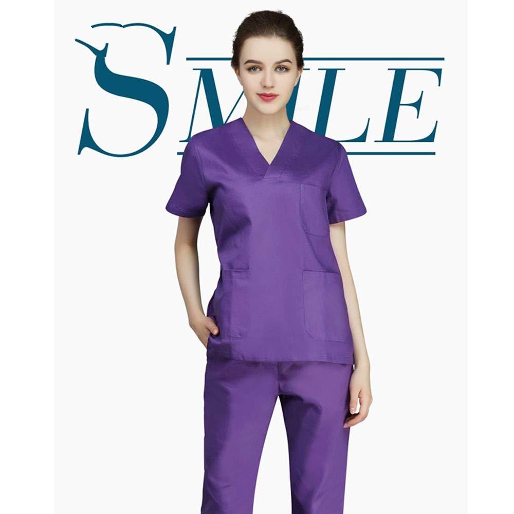 OPPP Abbigliamento medico Camicia Infermiera chirurgica Abbigliamento Abbigliamento Ospedale Bellezza Medico Infermiere Uniforme Camicia + Pantaloni