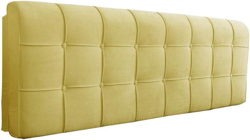 ダブルベッドピローソフトピローベッド、木製寝具ヘッドピローホームオフィスベッドサイドベッド洗える、ベッドなし3色、5サイズ(色:A、サイズ:ヘッドストック200 * 58cm)