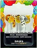 Roura pack 5 Birthday Candles Animals