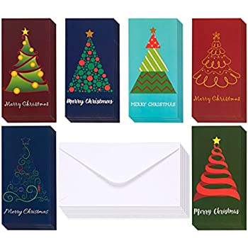 Amazon 36 pack merry christmas greeting cards xmas money and 36 pack merry christmas greeting cards xmas money and gift card holder cards in m4hsunfo