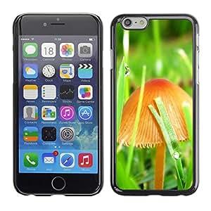 Caucho caso de Shell duro de la cubierta de accesorios de protección BY RAYDREAMMM - Apple iPhone 6 Plus 5.5 - Mushrooms and grass