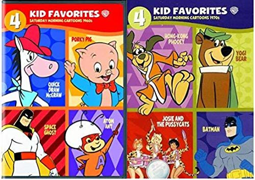 Saturday Morning Cartoons Series: Complete 8-Film Collection - 1960's & 1970's - Porky Pig/ Space Ghost/ Atom Ant/ Yogi Bear/ Batman/ Josie and the Pussycats/ Hong-Kong Phooey