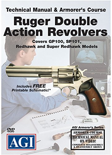 American Gunsmithing Institute Technical Manual and Armorer's Course with DVD for Ruger Double Action Revolvers - Instructions for Disassembly, Cleaning, Reassembly and More