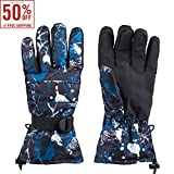 Men Waterproof Winter Outdoor Glove Thinsulate Insulated Lined Windproof Ski Snowboarding Gloves