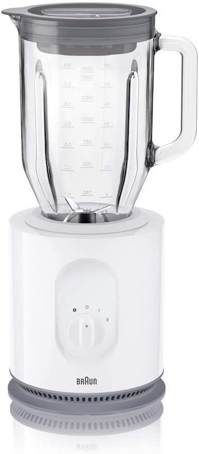 Braun JB5050 - Batidora de vaso, 900 W, 1.6 L, cristal, blanco ...