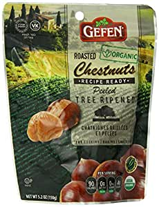 Gefen Whole Chestnuts, Roasted & Peeled ,  5.2-Ounces (Pack of 6)
