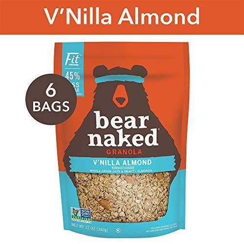 Bear Naked Vanilla Almond Fit Granola - Non-GMO | Kosher | Vegan - 12 Oz (Pack of 6)