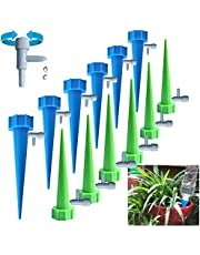 Self Watering Spikes, Slow Release Control Valve Switch Automatic Irrigation Watering Drip System, Adjustable Water Volume Drip System for Outdoor and Vacation Plant Watering
