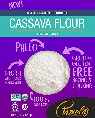 Pamela's Organic Grain-Free Gluten Free Paleo Flour, Cassava, 6 Count