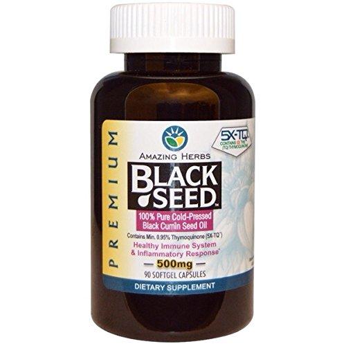 ブラッククミンシードオイル 500 mg 90カプセル 【プレミアム|ハラール認証|グルテンフリー|オメガ6オメガ9豊富】