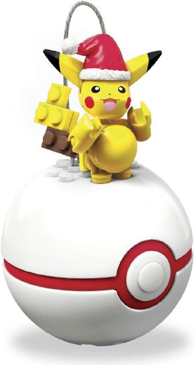 Mega Construx Pokemon Holiday Pikachu Poke Ball Red /& White FVK72