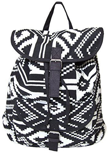 carolina-sweethearts-woven-aztec-black-and-white-backpack-with-magnetic-closure