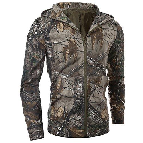 Chaqueta de camuflaje de moda para los hombres con capucha, chaqueta Casual deportes al aire libre Tops
