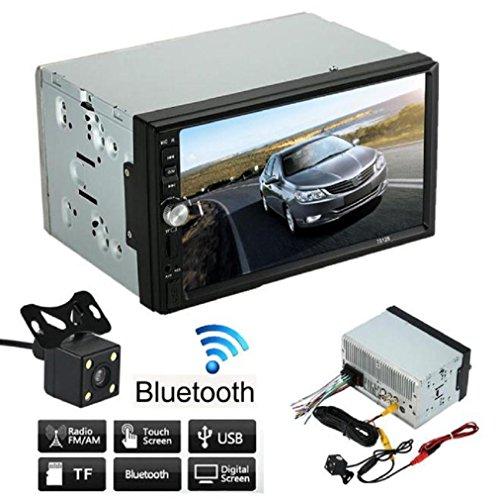 JPOQW(TM) Car Stereo Bluetooth MP5/3 Player Radio USB AUX + Parking Cam