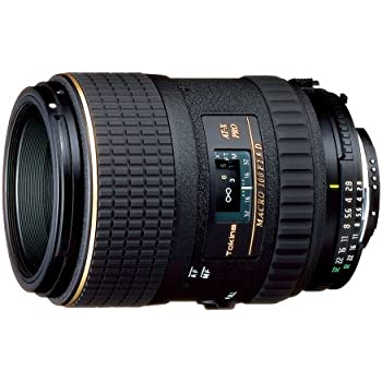 Tokina AT-X 100mm f/2.8 PRO D Macro Lens for Nikon Auto Focus Digital and Film Cameras - Fixed