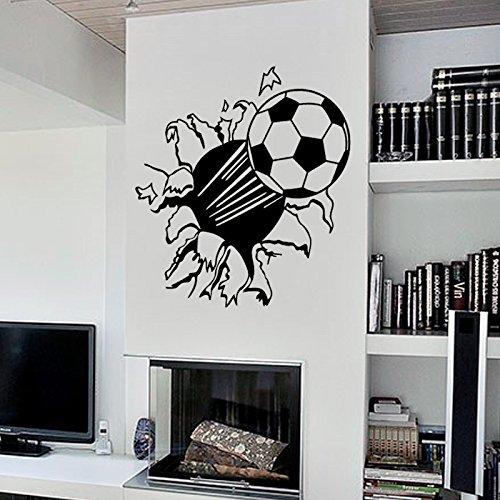 Mr.S Shop PVC Bedroom Sofa Backdrop Decorative Wall Stickers Creative Stickers Decorative Carved 3D Football Stickers