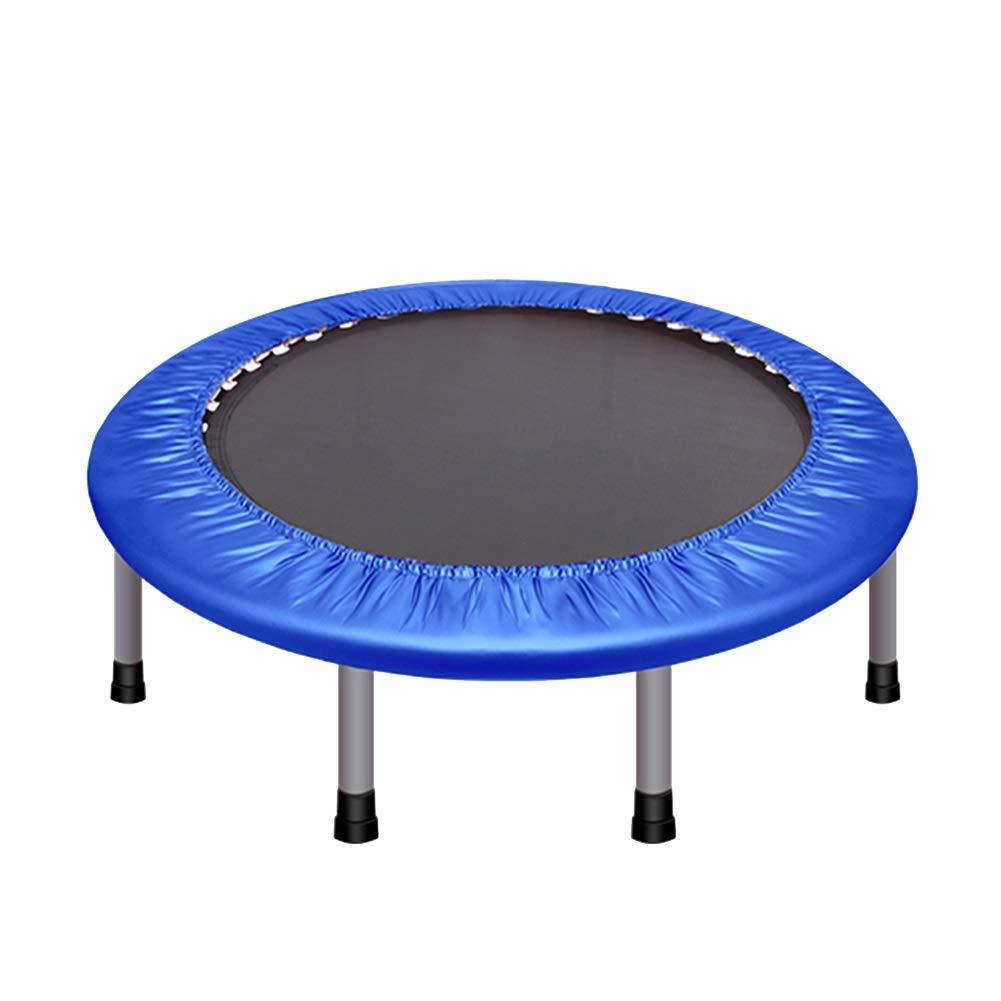 室内用トランポリン 小さいスペースのための安全パッドが付いている小型トランポリン、子供の大人のための折りたたみ貯蔵の適性のRebounderの家のトランポリン、オフィスのカーディオトレーナー、最高負荷150kg (色 : 青)  青 B07NMK4SB1