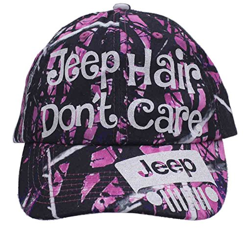 Caps Care - Licensed Muddy Girl Jeep Hair Don't Care Glittering Trucker Style Cap Hat