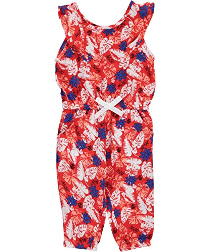 "Price comparison product image Rocawear Baby Girls' ""Leafy Palms"" Romper - red,  18 months"