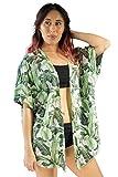 PIYOGA Women's Kimono Cardigan Yoga Beach Cover-up Blouse, Boutique Bohemiam Lounge - Short Length (My Heart is in Havana)