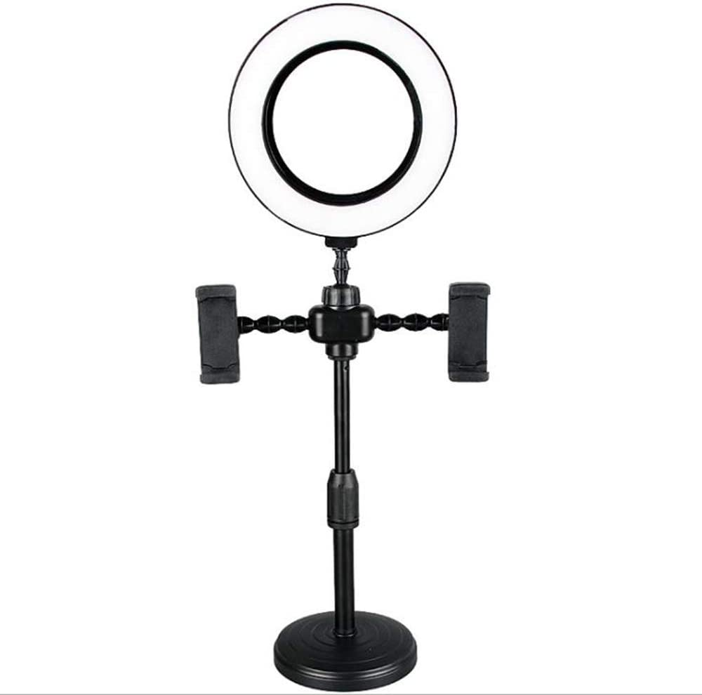 Selfie Ring Light, Multifunction LED Ring Light with Stand Phone Holder for Live Streaming, YouTube Video/Photography. Makeup Camera Ring Light with 3 Light Modes.