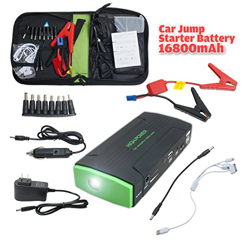Fantastic Deal! 600A Peak Current Portable Car Jump Starter with 7800mAh Power Bank Emergency Car Ba...