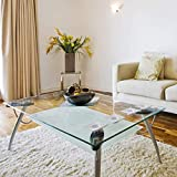 """Fab Glass and Mirror Rectangle Tempered Glass Table Top, 32"""" x 36"""", Clear"""