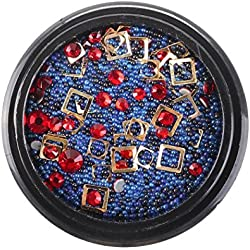 Hot Sale Nail Art Beads for Womens Girls Teens, Iuhan® Nail Art Metal Round Beads Pearl Caviar Steel Ball Decoration Manicure DIY (A)