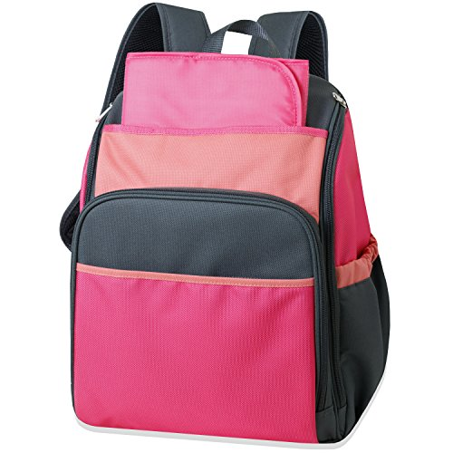 Tender Kisses Color Block Backpack Diaper Bag, Black