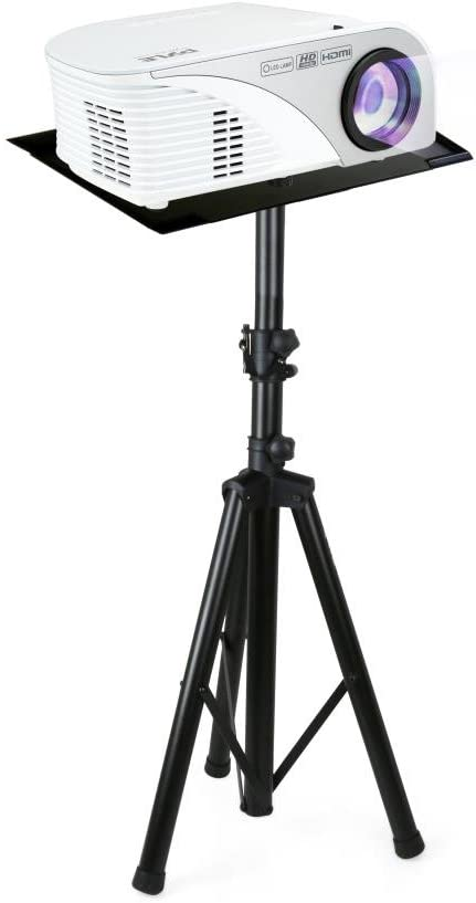 """Pyle Audio Mobile DJ PA Speaker Stands, Laptop Stand, Multifunction Stand, Adjustable Tripod Laptop Projector Stand, 30"""" to 55"""", Good For Stage or Studio (PLPTS7), Black"""