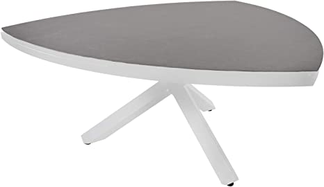 Lifestyle4living Gartentisch In Grau Alu Keramik Tischplatte Wetterfest 170x74 Cm Hochwertiger Moderner Dreieckiger Tisch Fur 6 Personen Amazon De Kuche Haushalt
