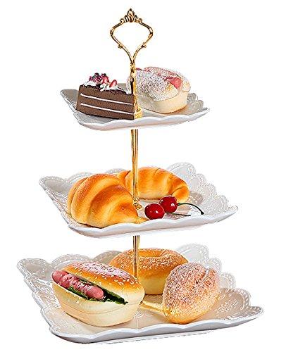 Jusalpha Porcelain Dessert Stand Cupcake Stand Tea